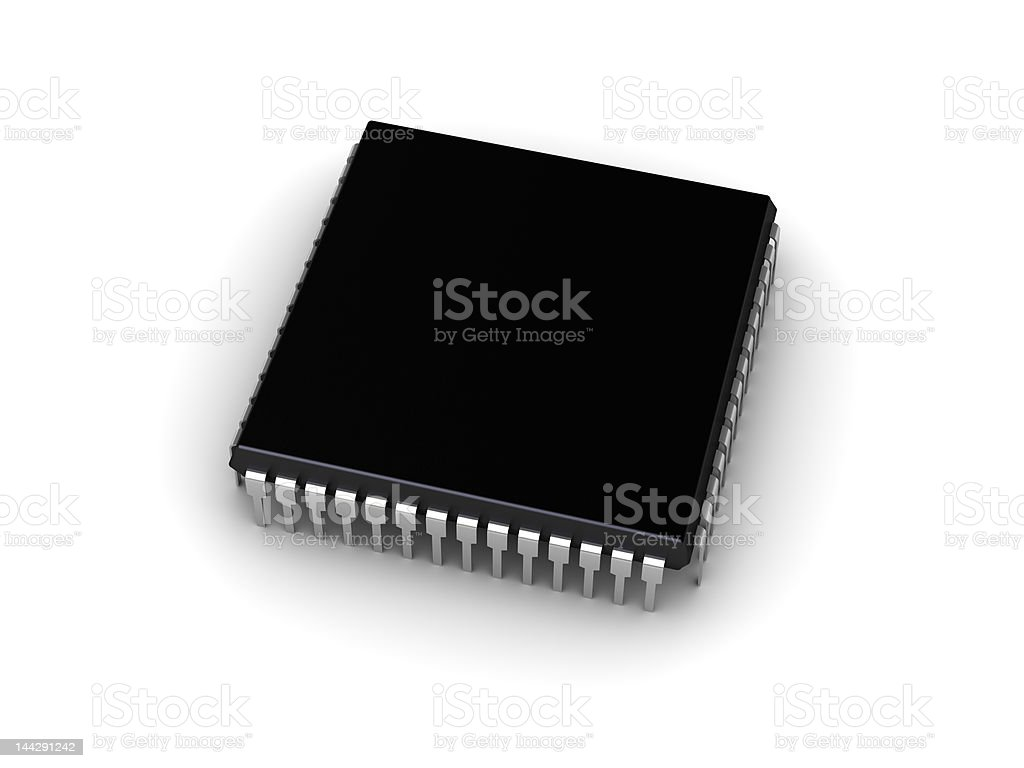 Computer chip (place for your text) royalty-free stock photo