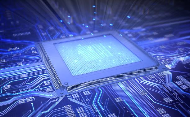 computer chip stock photo