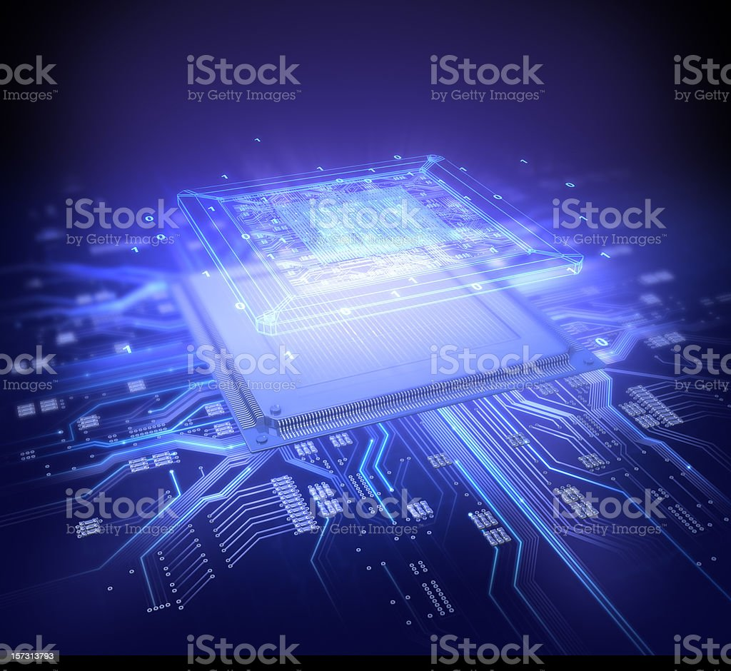 Computer Chip - Royalty-free Abstract Stock Photo