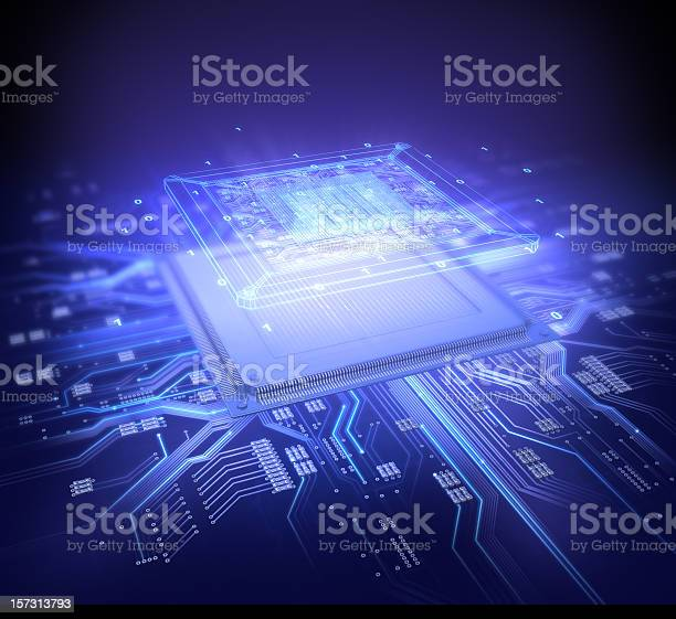 Computer Chip Stock Photo - Download Image Now