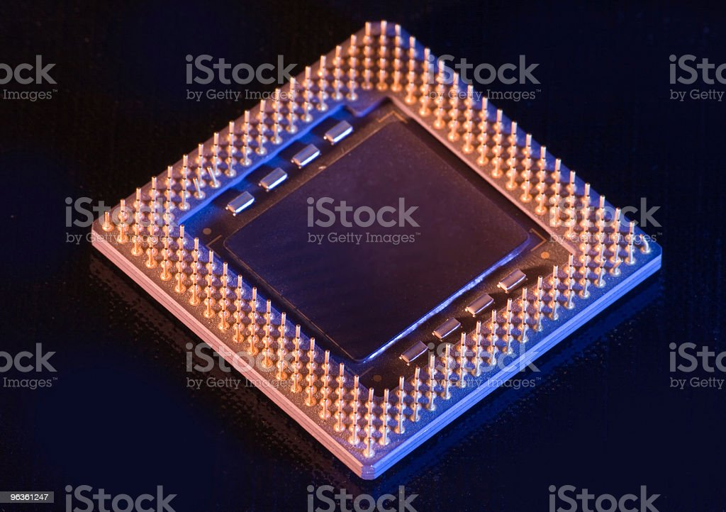 Computer Chip royalty-free stock photo