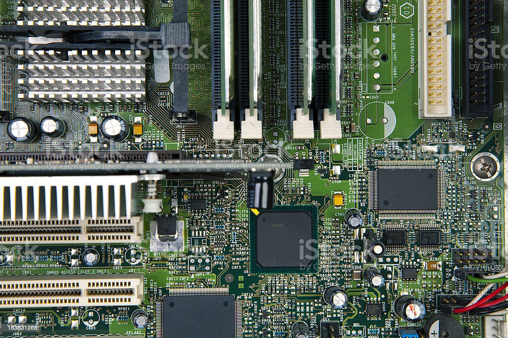 Computer chipset board stock photo