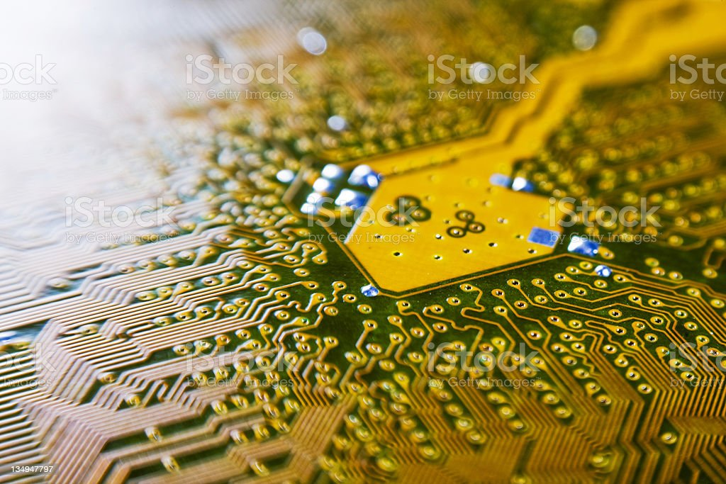 Computer circuit royalty-free stock photo