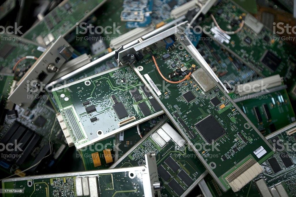 Computer circuits royalty-free stock photo