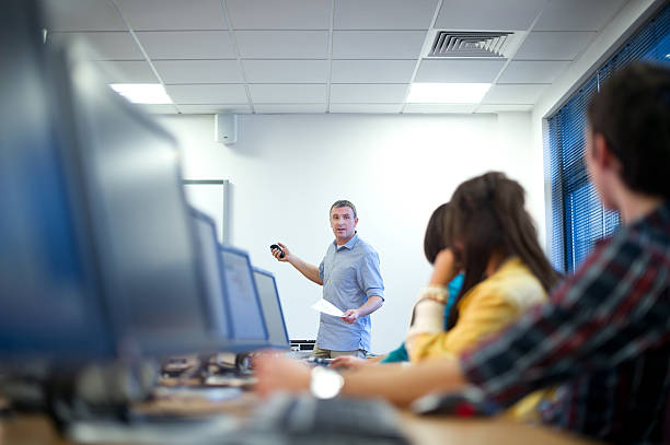 computer class - technical training stock photos and pictures