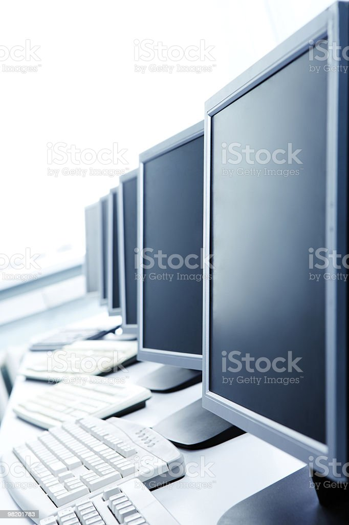 Computer class royalty-free stock photo