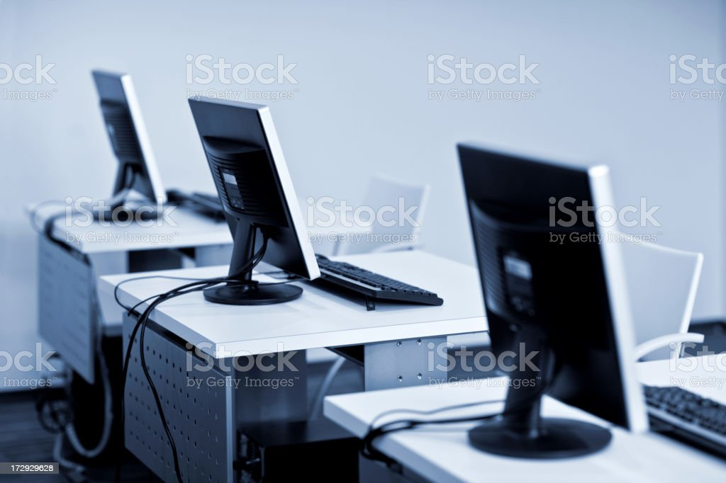 computer classroom royalty-free stock photo