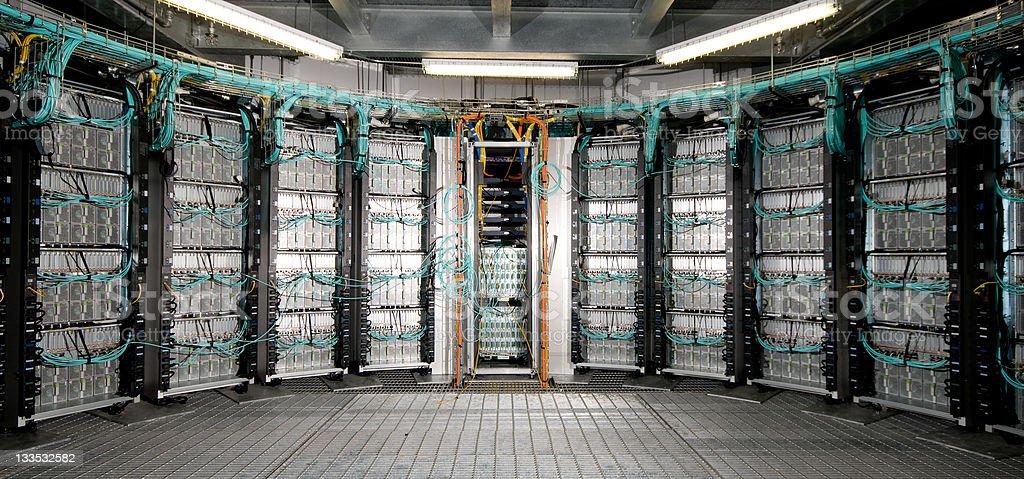 Computer Cluster Server room stock photo
