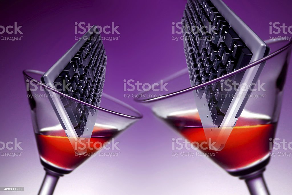 cocktail informatico royalty-free stock photo