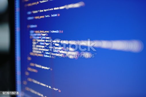 1001827816 istock photo Computer Code On Screen 923918618