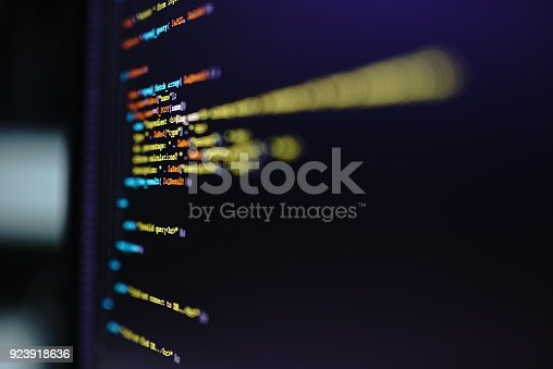 1001827816 istock photo Computer Code On Screen 923918636
