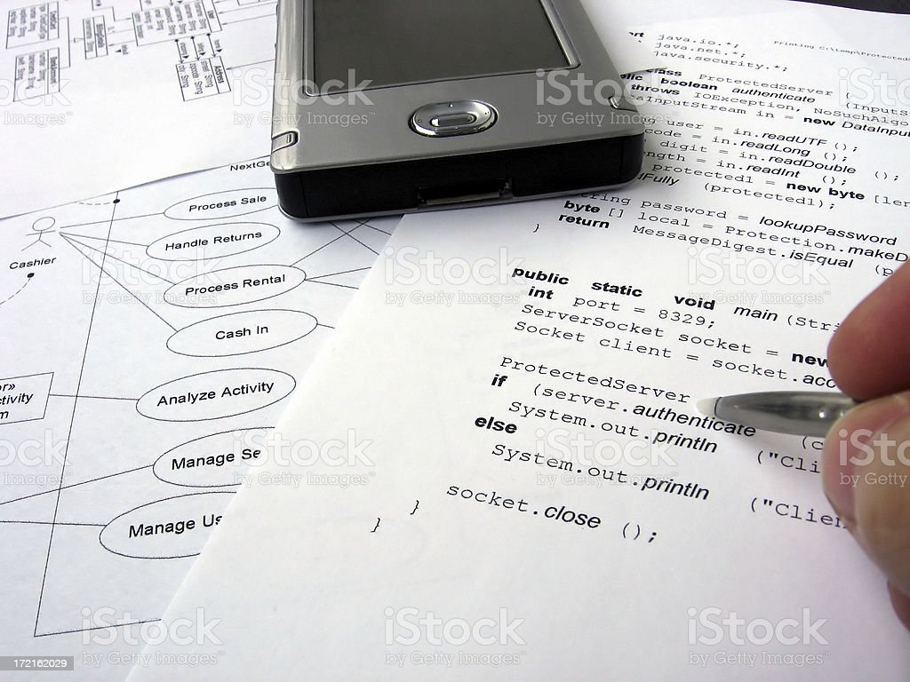 Computer code royalty-free stock photo