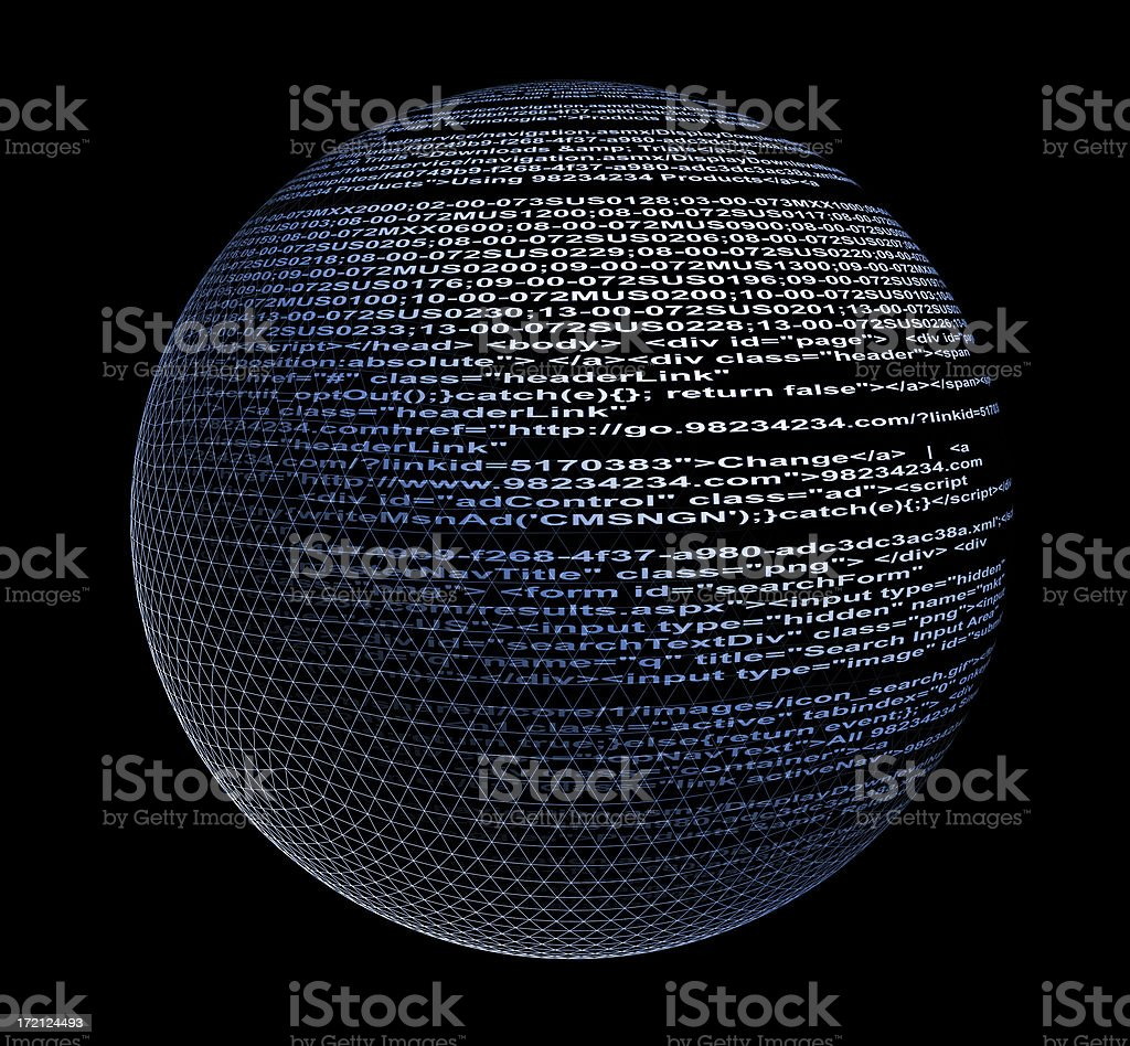 Computer Code Sphere royalty-free stock photo