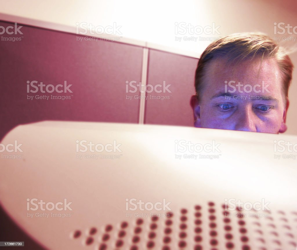 Computer Concentration royalty-free stock photo