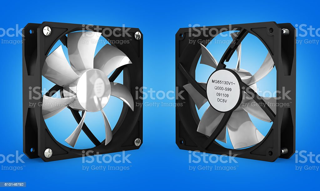 computer cooler isolated on gradient background 3d stock photo
