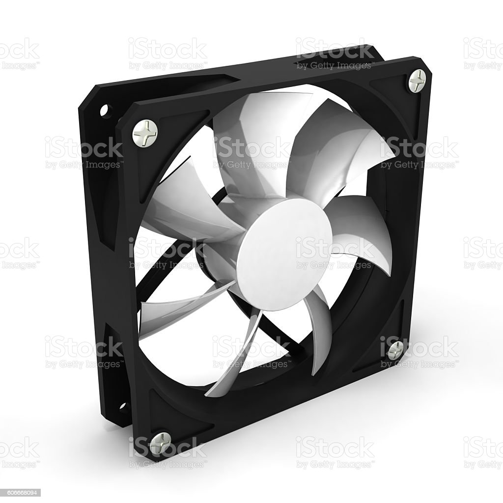computer cooler isolated on white background 3d render stock photo