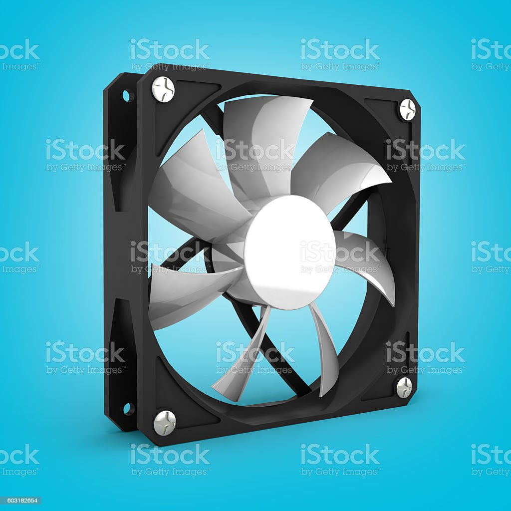 computer cooler on gradient background 3d stock photo