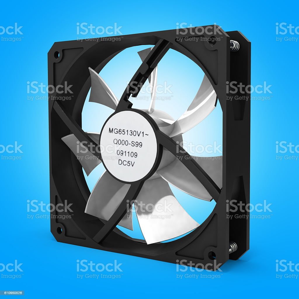 computer cooler on gradient white background 3d stock photo