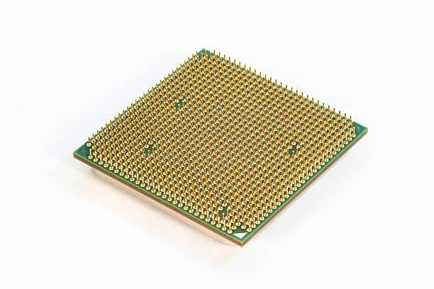 Computer CPU - Gold Pins stock photo