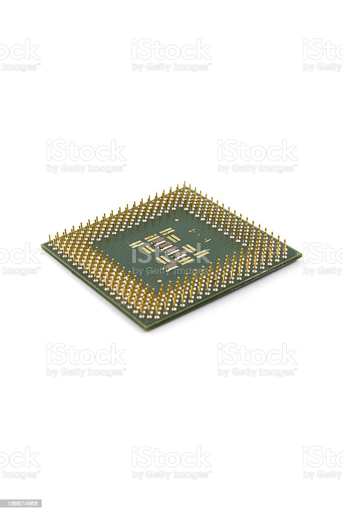 Computer CPU isolated on a white background stock photo