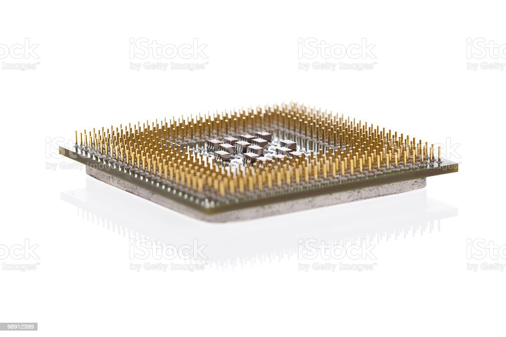 Computer CPU isolated on white royalty-free stock photo