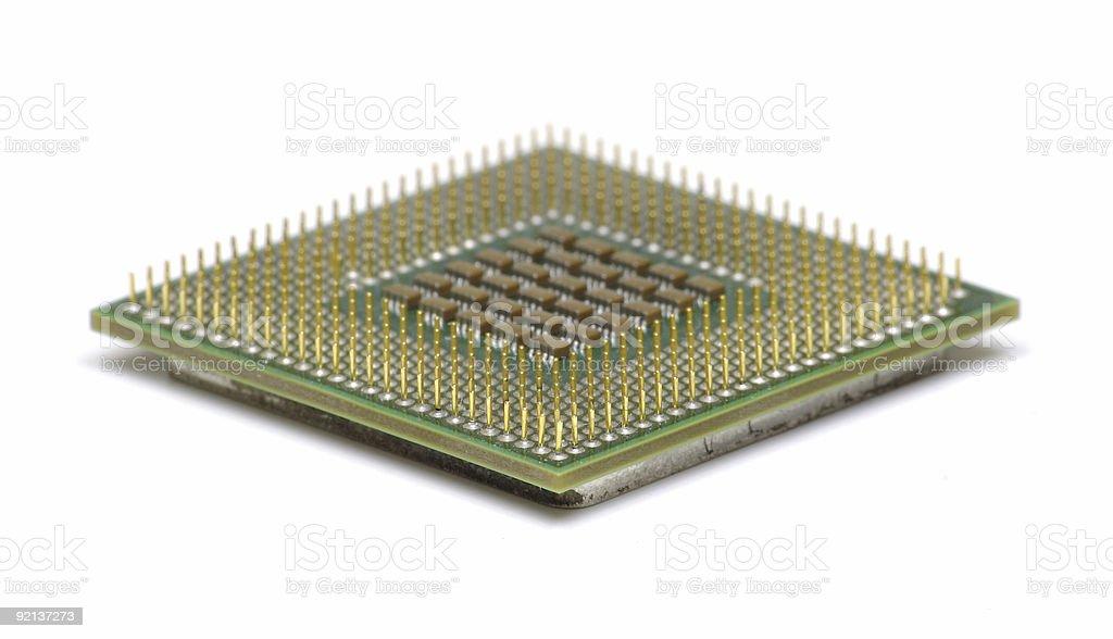 Computer CPU Processor Chip stock photo