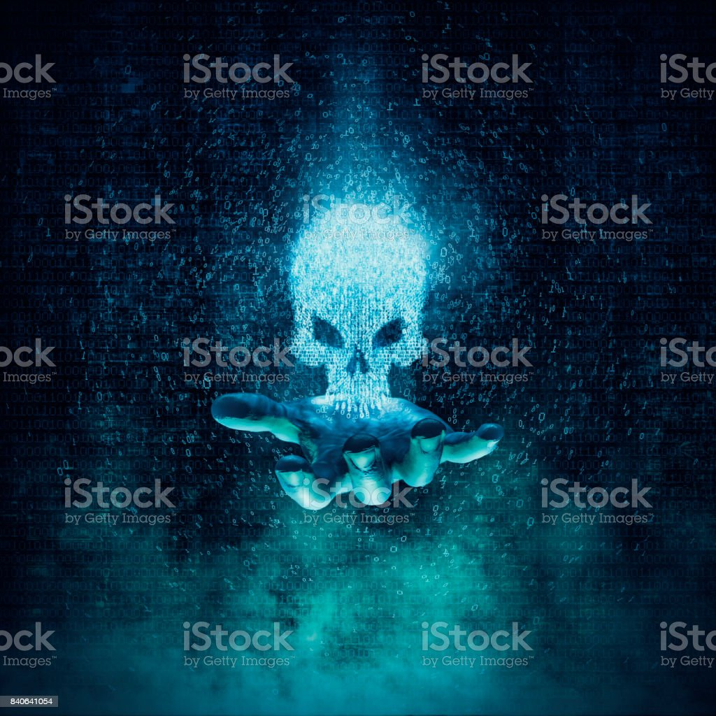 Computer crime and virus concept stock photo