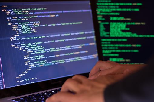 Computer Crime Concept Hacker Breach Site Stock Photo - Download Image Now