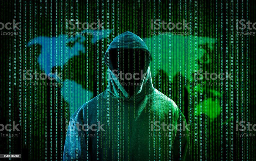Computer crime concept. stock photo