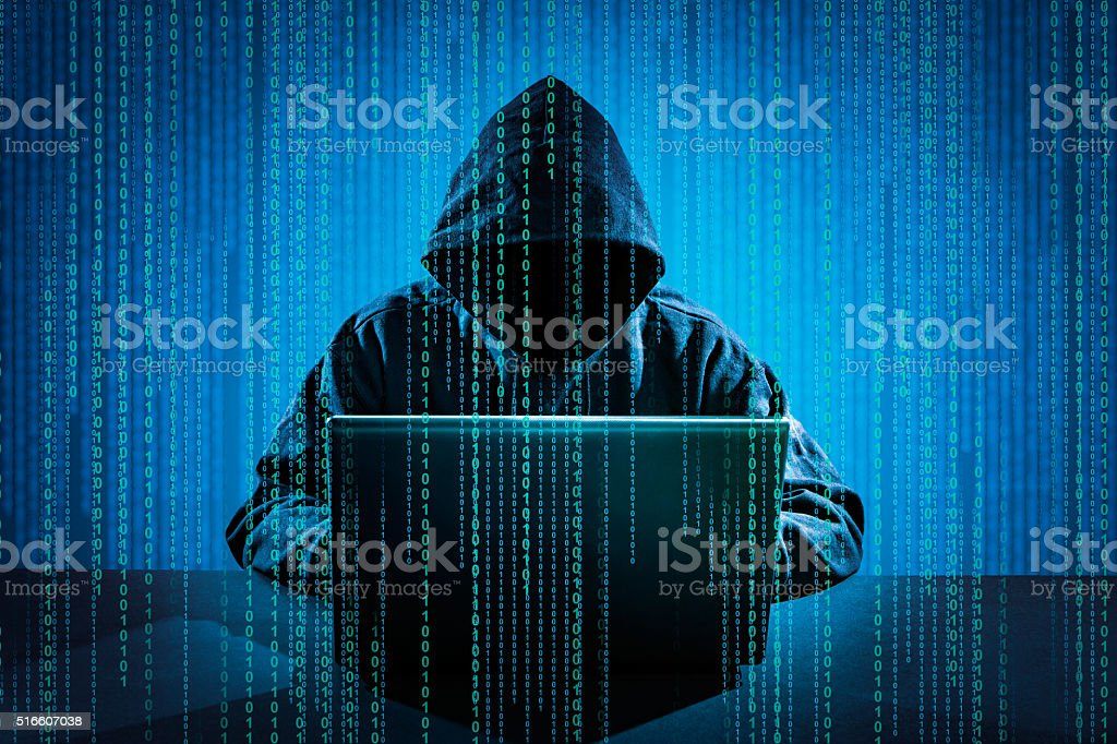 concept de criminalité informatique. - Photo