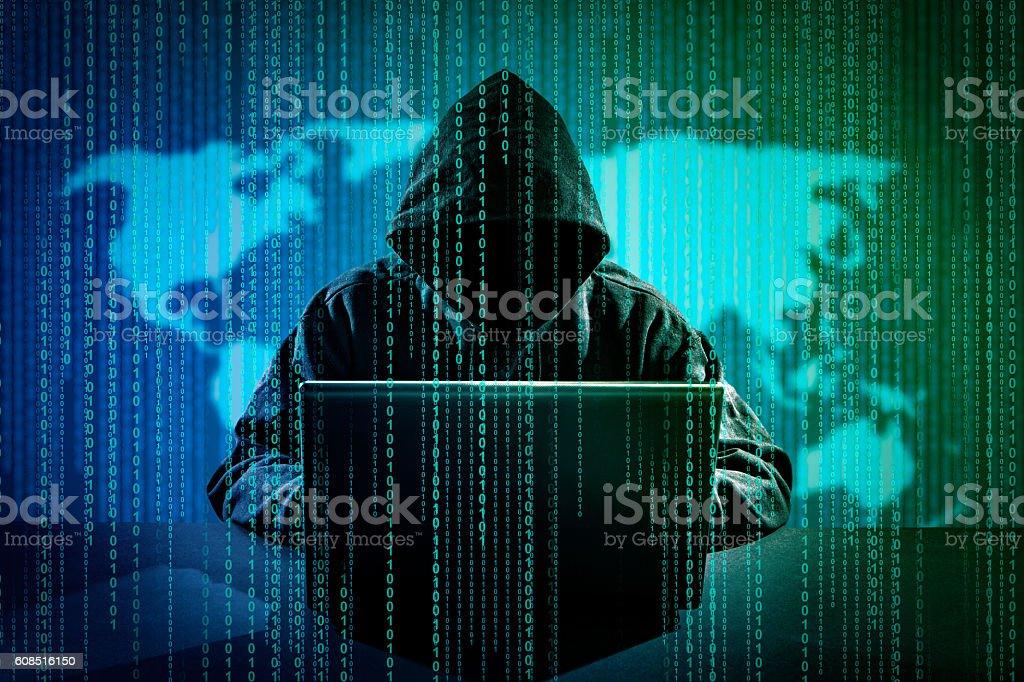 Computerkriminalität Konzept. - Lizenzfrei Anonymous - Aktivistengruppe Stock-Foto