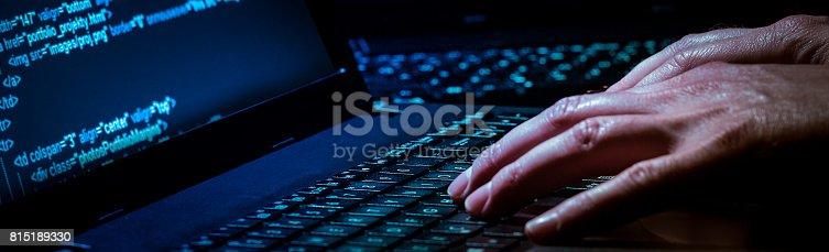 istock Computer crime concept 815189330