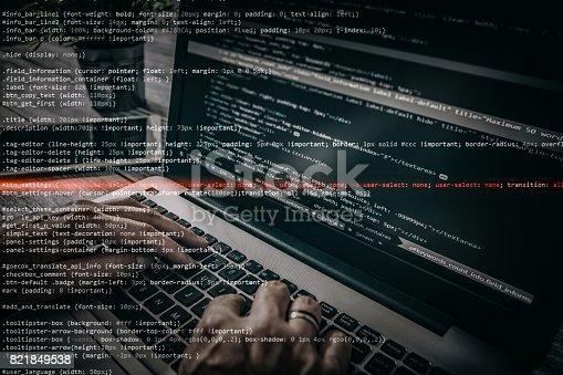 istock Computer crime concept 821849538