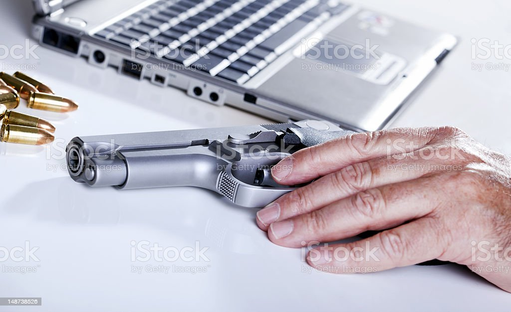 Computer Criminal royalty-free stock photo