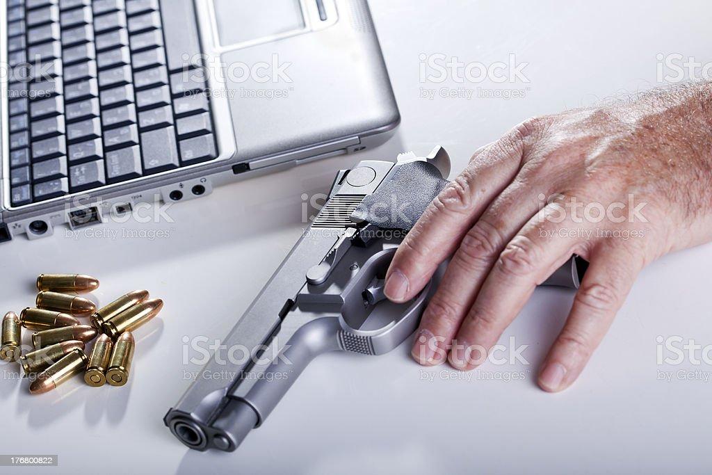 Computer Criminal royalty-free stock photo