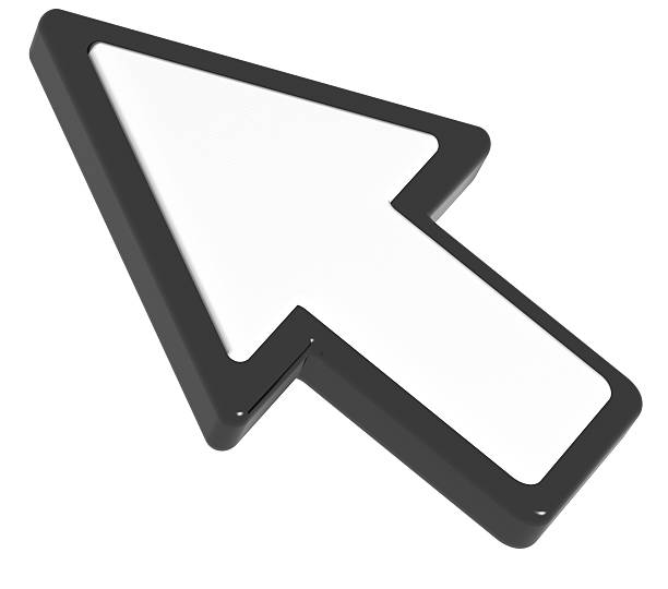 computer cursor arrow - mouse pointer stock photos and pictures
