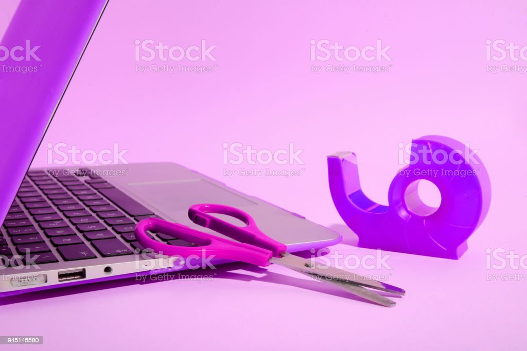 computer cut and paste command concept stock photo