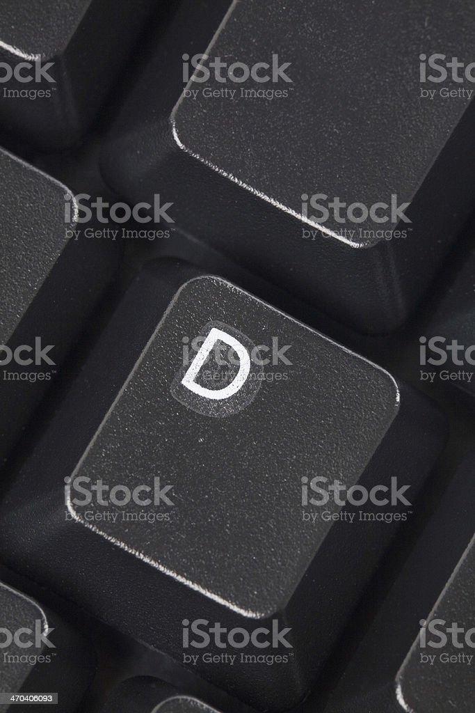 computer D key stock photo