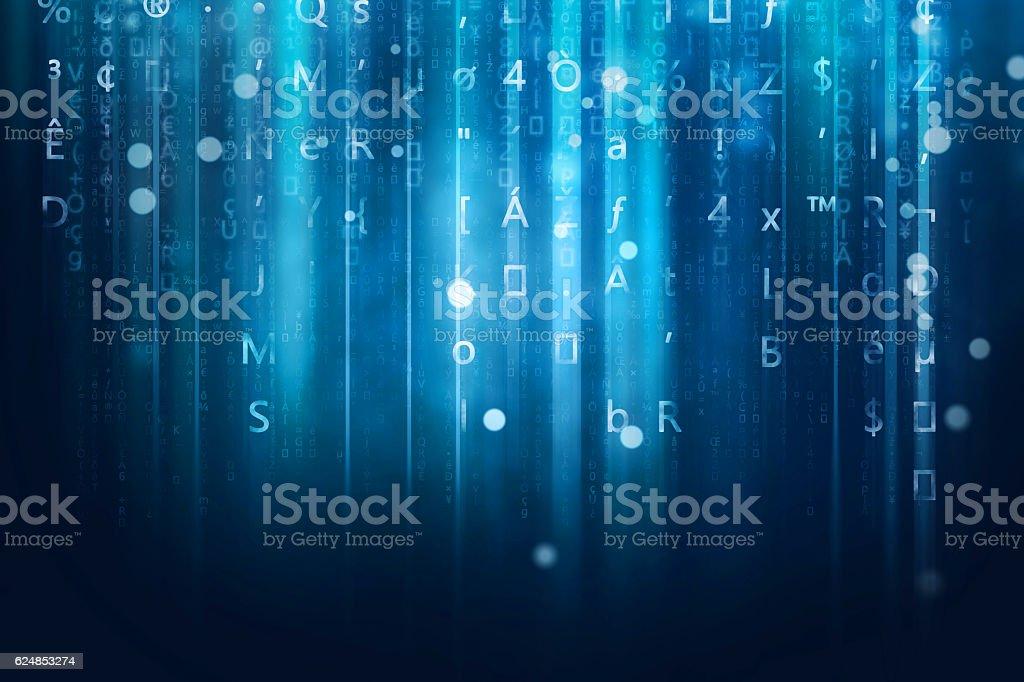 computer data stream background stock photo