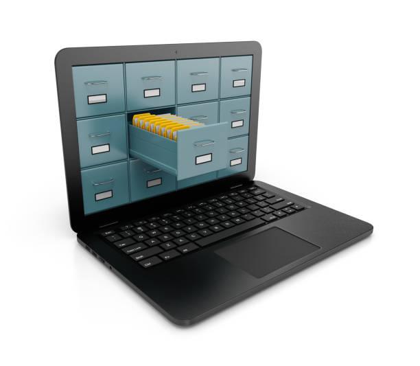 Consulta de banco de dados de computador - foto de acervo