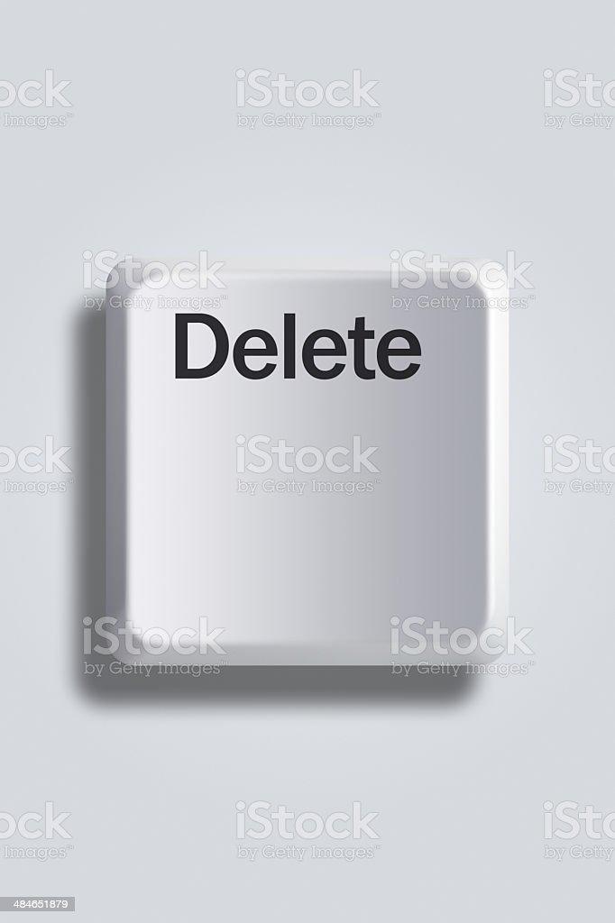 Computer delete key stock photo