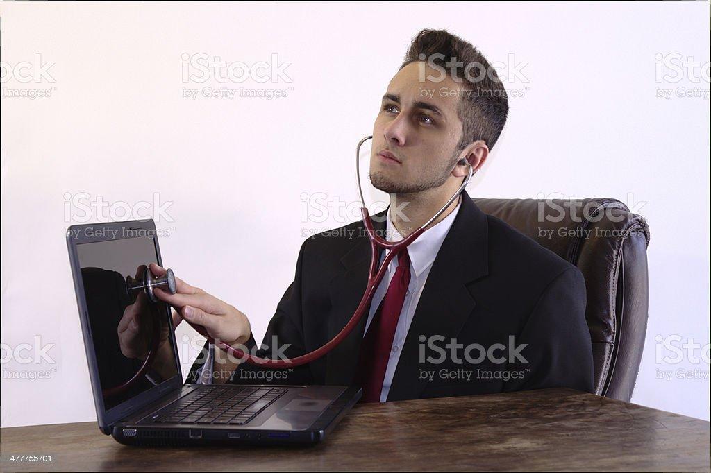 Computer Diagnosis stock photo