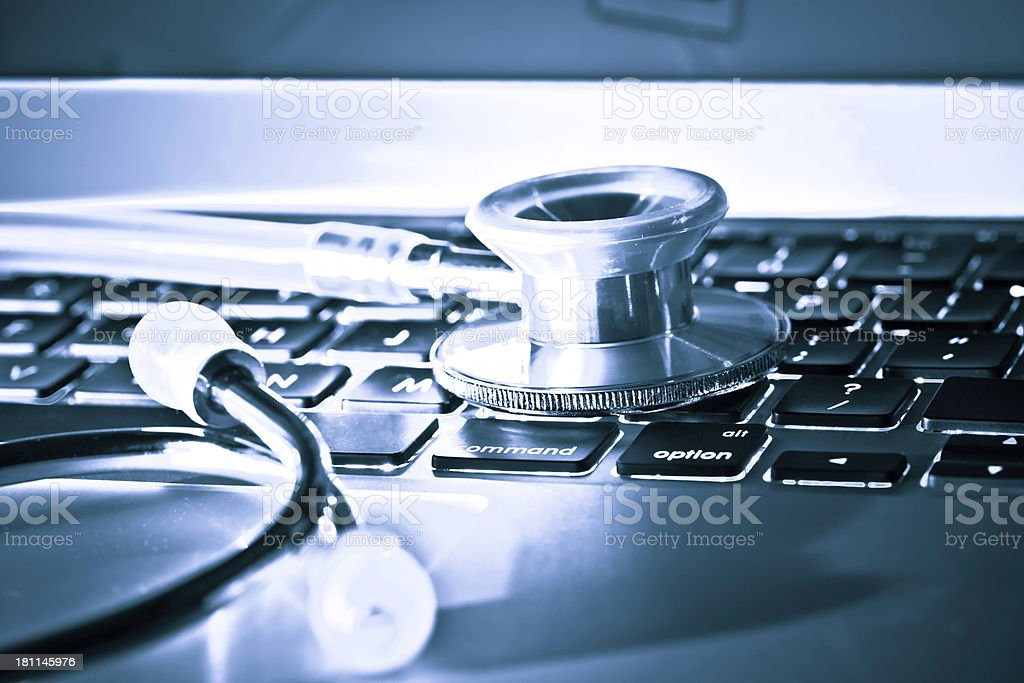Computer Diagnostic royalty-free stock photo