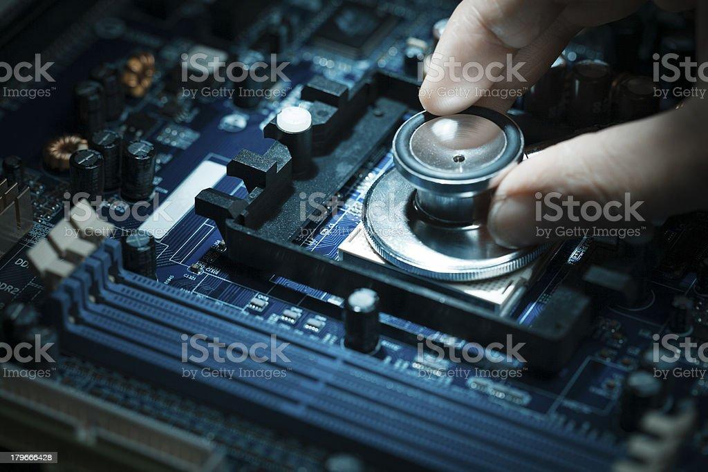 Computer diagnostics. royalty-free stock photo