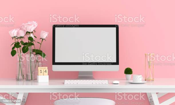 Computer display for mockup in pink room valentine concept 3d picture id1092374504?b=1&k=6&m=1092374504&s=612x612&h=gncw mfy7gh31evhboyiosoy4u0z16lmphde80peq8m=