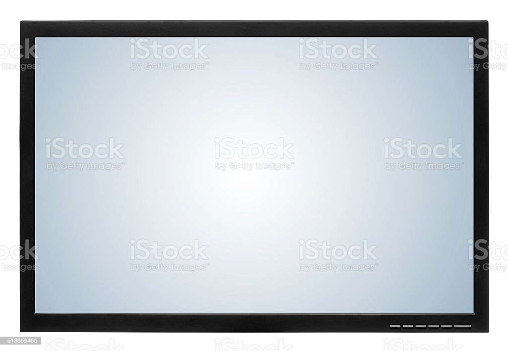 Computer display or lcd tv on white background stock photo
