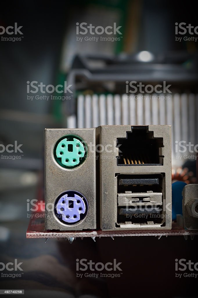 Computer docks ports stock photo