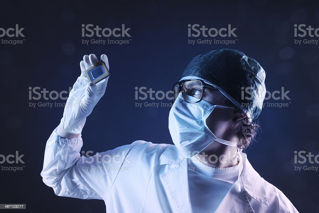 Computer Doctor royalty-free stock photo