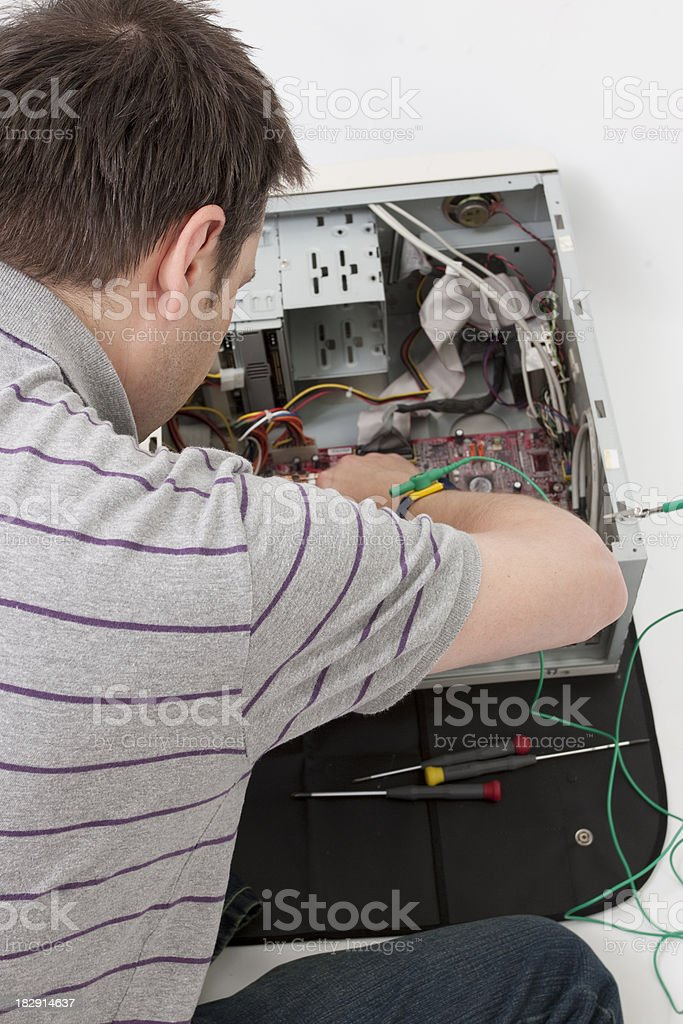 Computer Engineer royalty-free stock photo