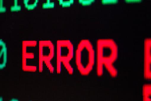 istock Computer error. 1209957436